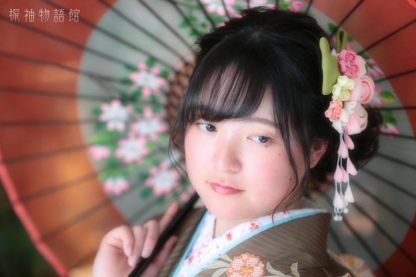 東京近郊にある振袖物語館新東京店で、成人振袖フォトプランの撮影をされたご成人様