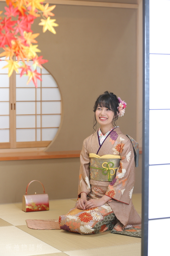 振袖物語館松戸店の成人振袖フォトプランの撮影です。