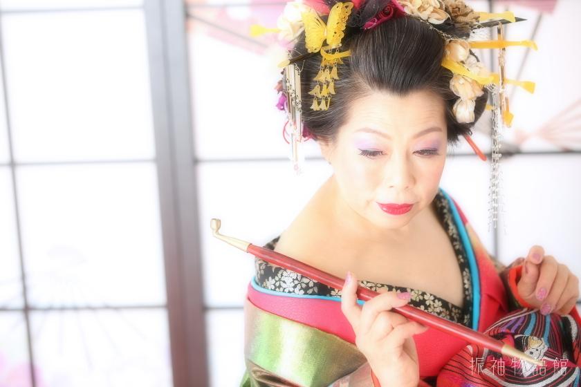 振袖物語館市川店で、江戸花魁プランの撮影をされたお客様